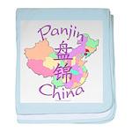 Panjin China Map baby blanket