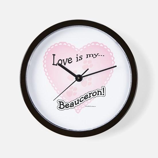 Love is my Beauceron Wall Clock