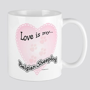Love is my Belgian Sheepdog Mug