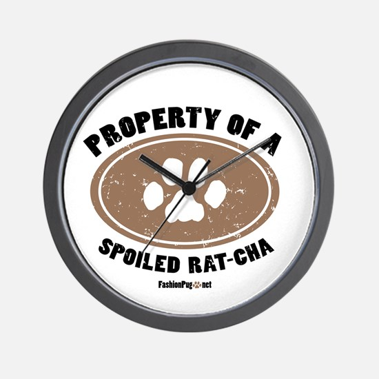 Rat-Cha dog Wall Clock