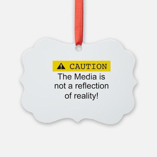 Unique News media Ornament