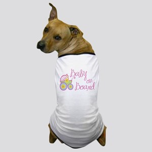 (Pink) Baby on Board Dog T-Shirt