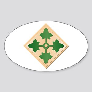 SSI - 4th Infantry Division Sticker (Oval)