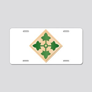 SSI - 4th Infantry Division Aluminum License Plate