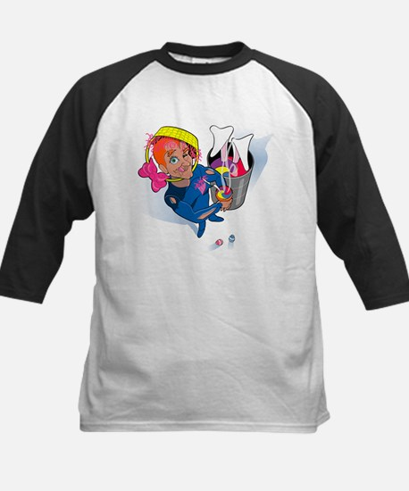 Easter Bunny Stew (no title) Kids Baseball Jersey
