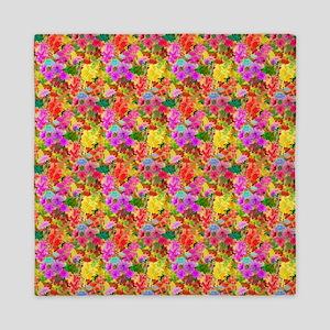 Colorful Floral Pattern Queen Duvet