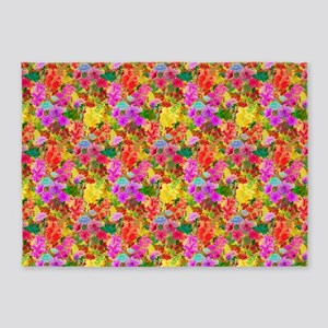 Colorful Floral Pattern 5'x7'Area Rug