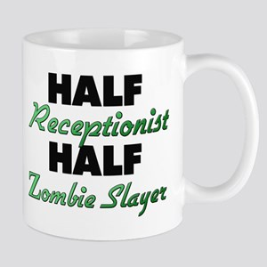 Half Receptionist Half Zombie Slayer Mugs