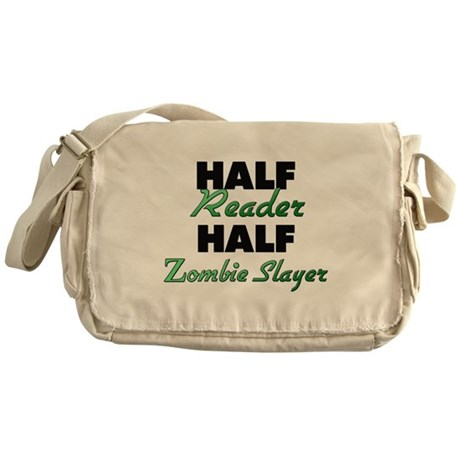 Half Reader Half Zombie Slayer Messenger Bag