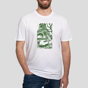 Citroen in Paris Fitted T-Shirt