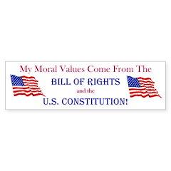 Moral Values Bumper Bumper Sticker