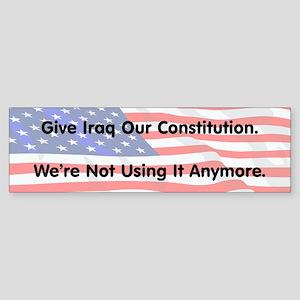 Iraq's Constitution Bumper Sticker