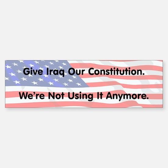 Iraq's Constitution Bumper Bumper Bumper Sticker