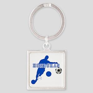 Honduras Soccer Player Square Keychain