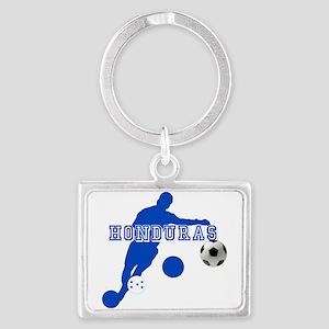 Honduras Soccer Player Landscape Keychain