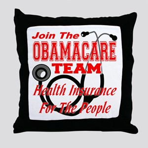 Join The Obamacare Team Throw Pillow
