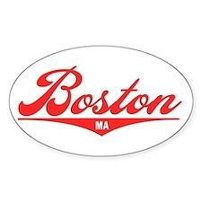 Boston MA Oval Sticker