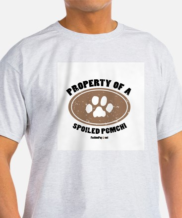 Pomchi dog Ash Grey T-Shirt