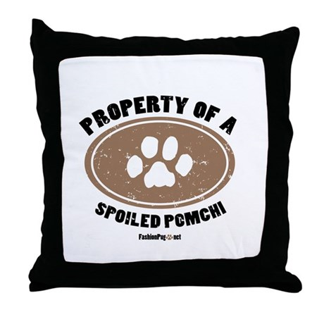 Pomchi dog Throw Pillow