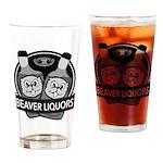 Beaver Liquors Drinking Glass