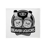 Beaver Liquors Throw Blanket