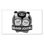 Beaver Liquors Sticker (Rectangle)