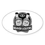 Beaver Liquors Sticker (Oval)