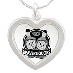 Beaver Liquors Silver Heart Necklace