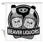 Beaver Liquors Shower Curtain