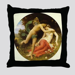 """Vintage Cupid"" Throw Pillow"