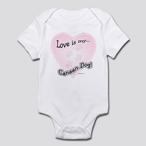 Love is my Canaan Dog Infant Bodysuit