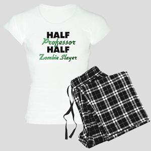 Half Professor Half Zombie Slayer Pajamas