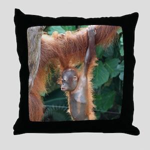 OrangUtan004 Throw Pillow