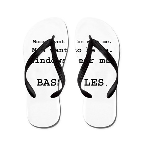 bass rules men version Flip Flops