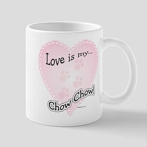 Love is my Chow Chow Mug