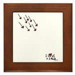 I Love U 2 Much! Framed Tile