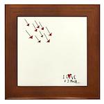 I Love U 2 Much! Framed Tile