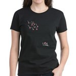 I Love U 2 Much! Women's Dark T-Shirt