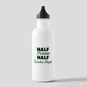 Half Printer Half Zombie Slayer Water Bottle