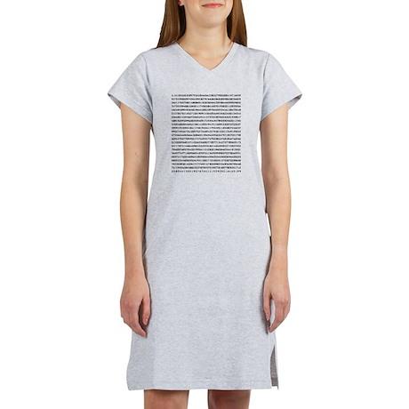 Pi to 1000 Digits Women's Nightshirt
