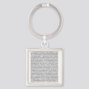 Pi to 1000 Digits Square Keychain