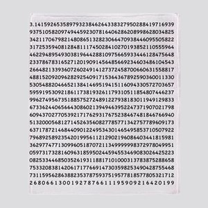 Pi to 1000 Digits Throw Blanket
