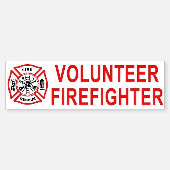 Volunteer Firefighter Bumper Bumper Bumper Sticker