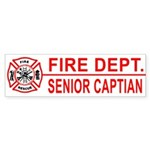 Fire Department Senior Captain Bumper Sticker