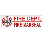 Fire Marshal Bumper Sticker
