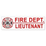 Fire Department Lieutenant Bumper Sticker