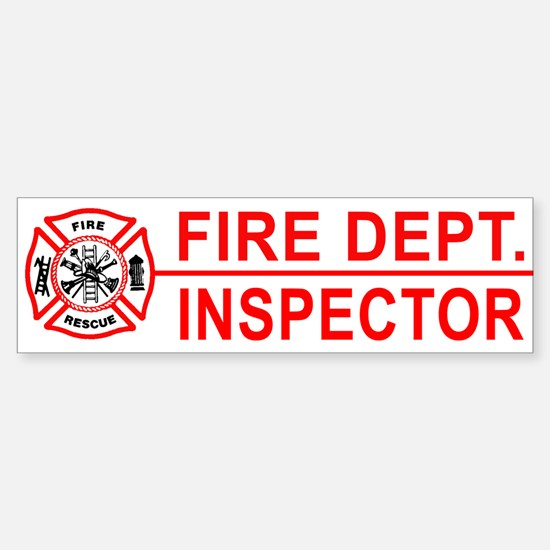 Fire Department Inspector Bumper Bumper Bumper Sticker