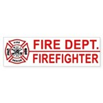 Fire Department Firefighter Bumper Sticker