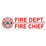 Fire Department Fire Chief Bumper Sticker