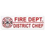 Fire Department District Chief Bumper Sticker